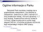 og lne informacje o parku