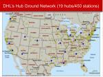 dhl s hub ground network 19 hubs 450 stations