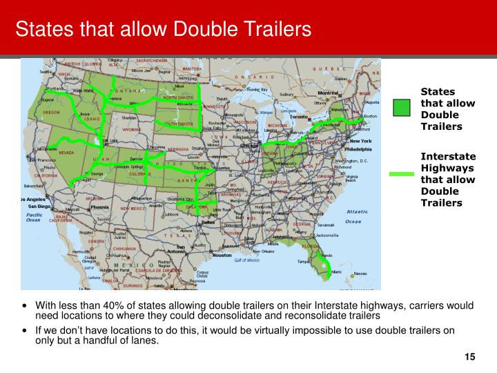 States that allow Double Trailers