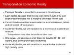 transportation economic reality