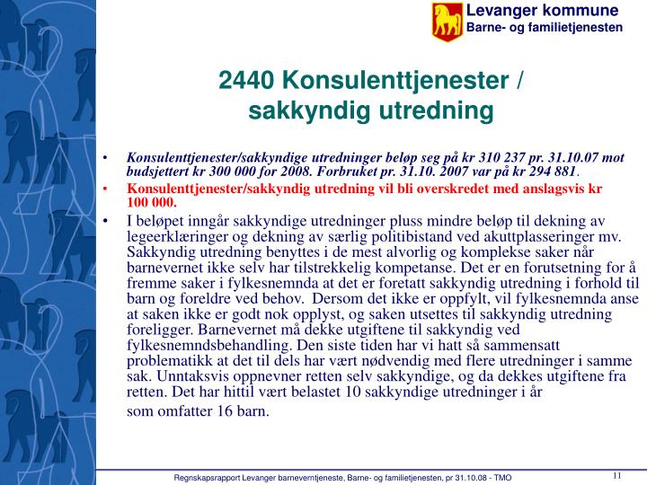 2440 Konsulenttjenester /