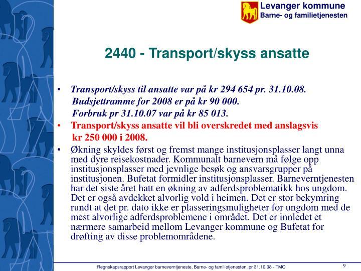 2440 - Transport/skyss ansatte