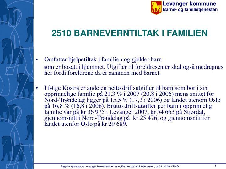 2510 BARNEVERNTILTAK I FAMILIEN