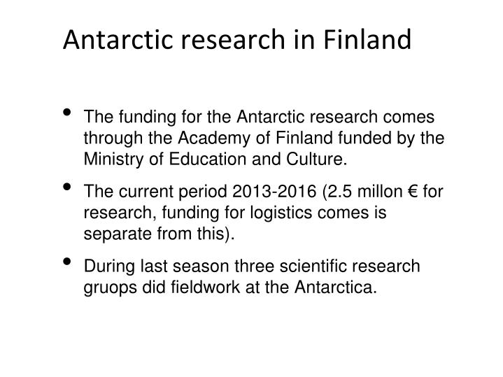 Antarctic research in Finland