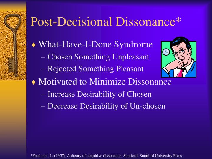 Post-Decisional Dissonance*