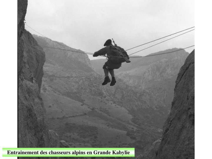 Entrainement des chasseurs alpins en Grande Kabylie