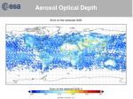 aerosol optical depth