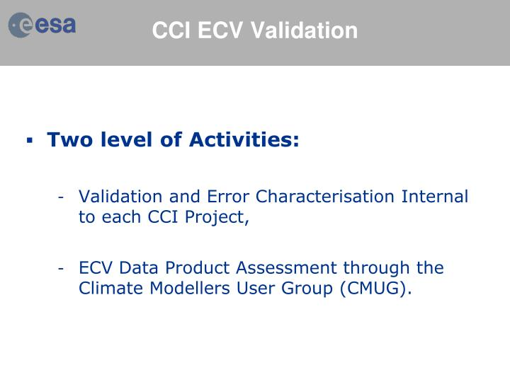 Cci ecv validation