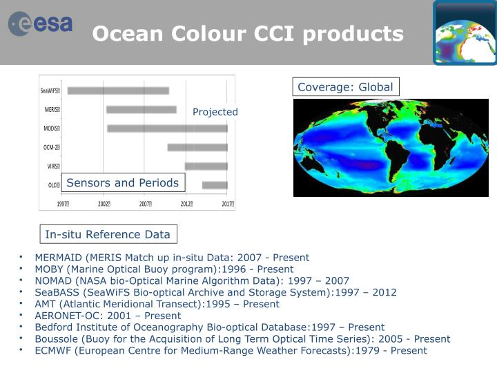 Ocean Colour CCI products