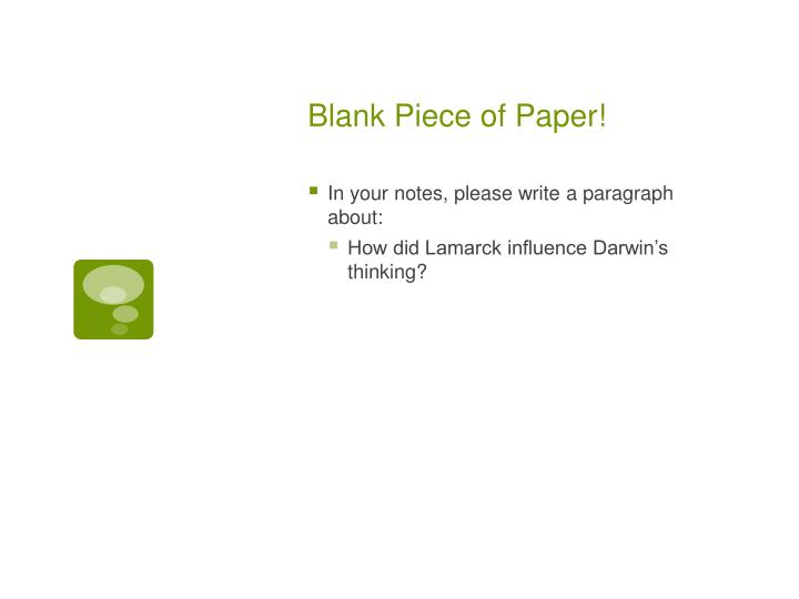 Blank Piece of Paper!