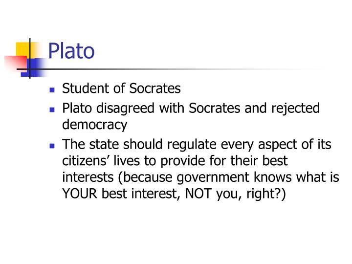 plato a student of socrates essay