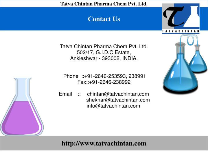 Tatva Chintan Pharma Chem Pvt. Ltd.