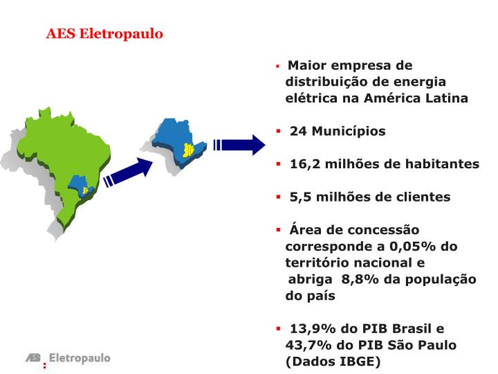 Maior empresa de distribuição de energia elétrica na América Latina