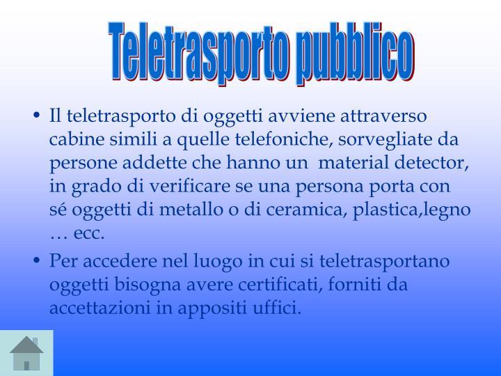 Teletrasporto pubblico