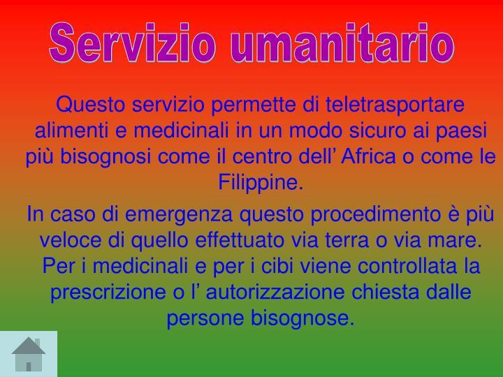 Servizio umanitario