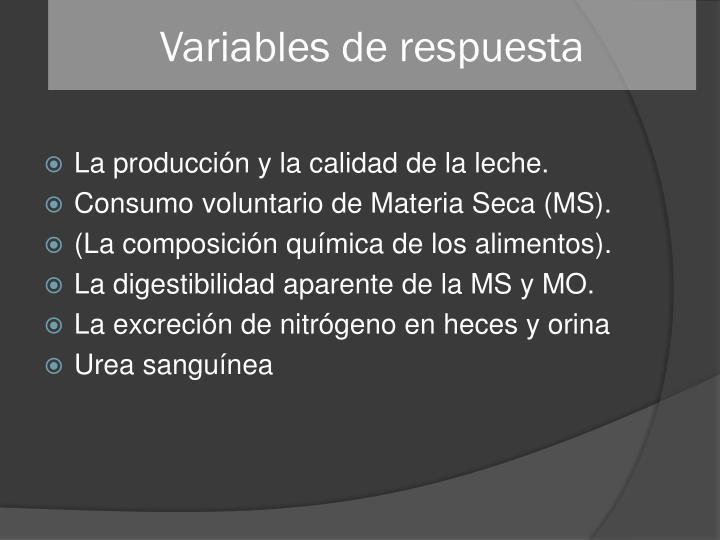 Variables de