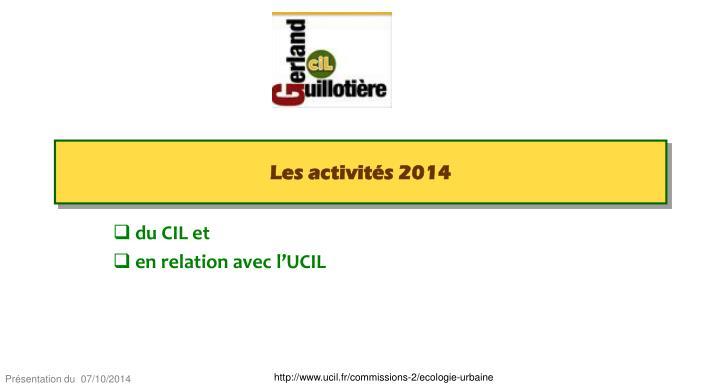 Les activités 2014