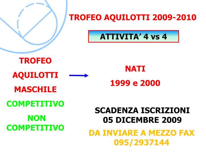 TROFEO AQUILOTTI 2009-2010