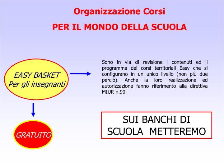 Organizzazione Corsi