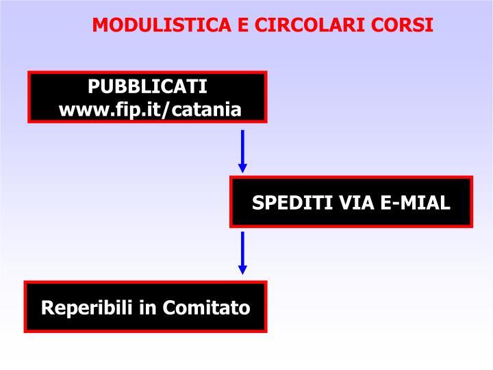 MODULISTICA E CIRCOLARI CORSI