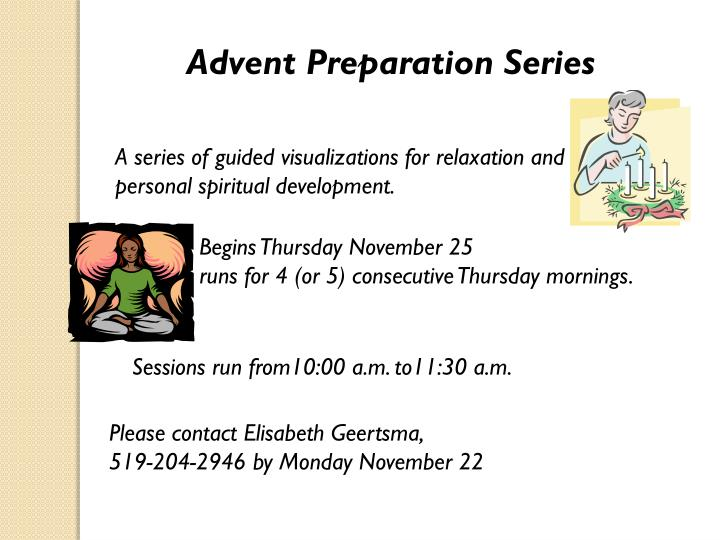 Advent Preparation Series