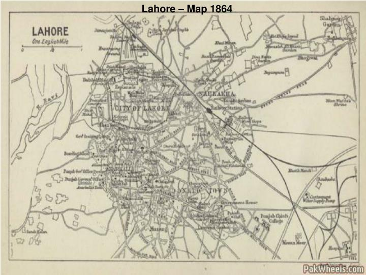 Lahore – Map 1864