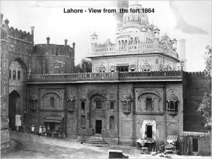Lahore - View from  the fort 1864