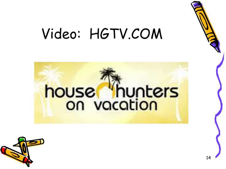 Video:  HGTV.COM