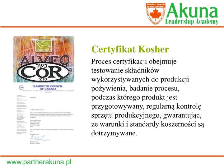 Certyfikat Kosher
