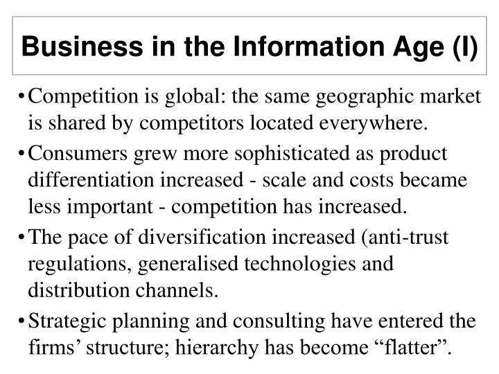 Business in the Information Age (I)