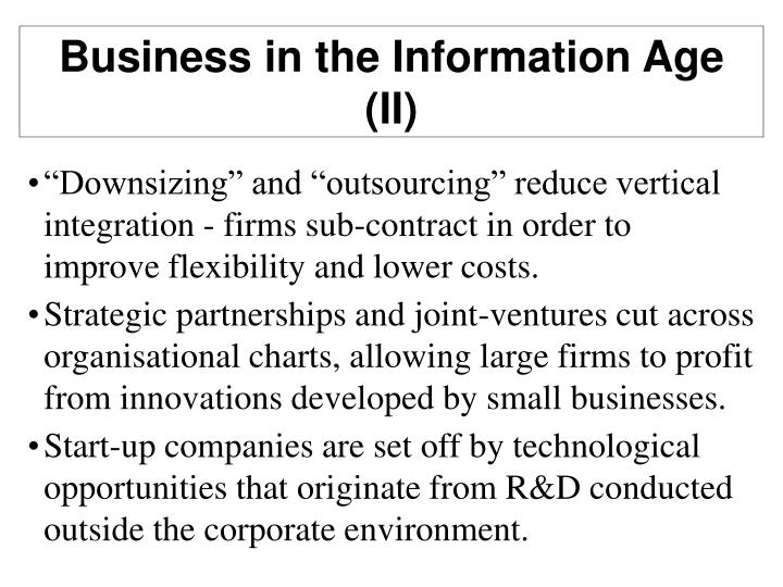 Business in the Information Age (II)