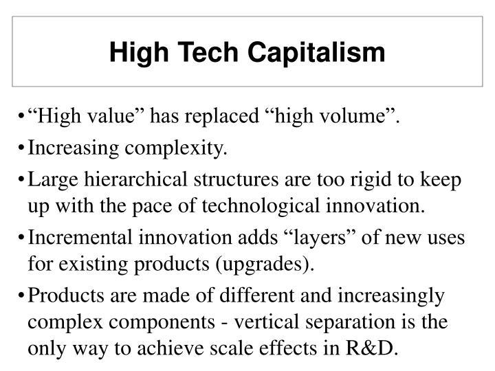 High Tech Capitalism