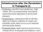 infrastructure after the revolution in transports i