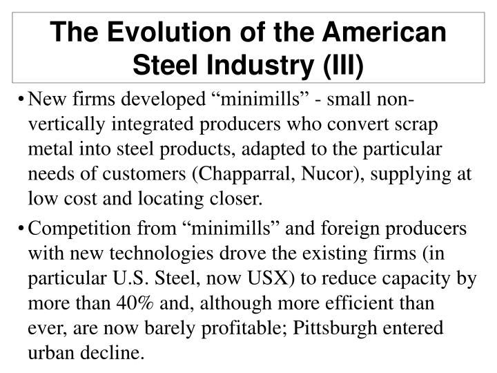 The Evolution of the American Steel Industry (III)