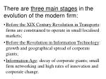 there are three main stages in the evolution of the modern firm