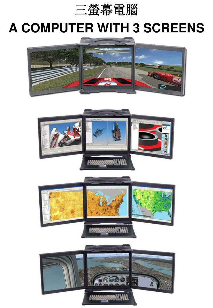 三螢幕電腦