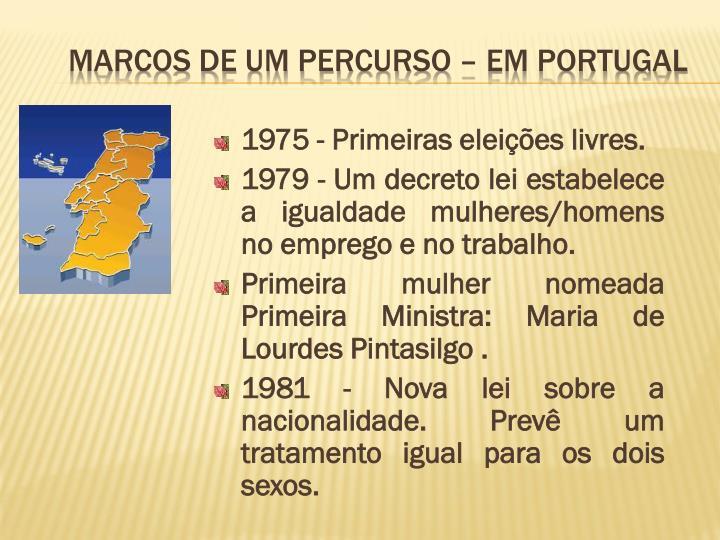 1975 - Primeiras eleições livres