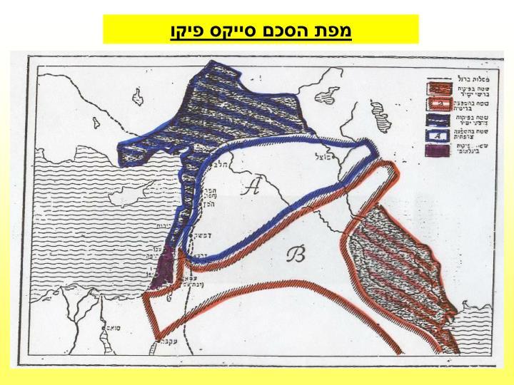 מפת הסכם סייקס פיקו