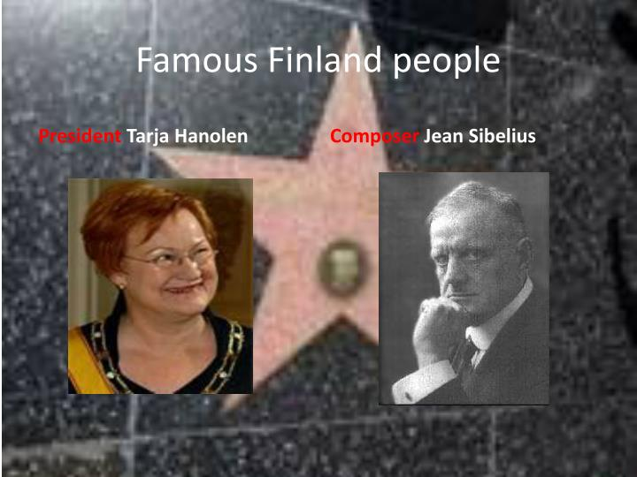 Famous Finland people