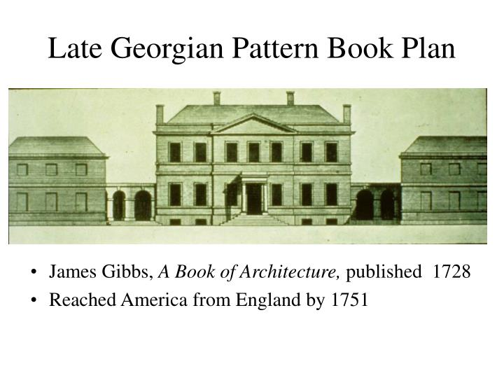 Late georgian pattern book plan