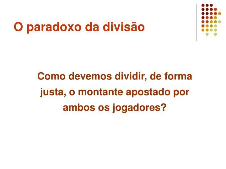 O paradoxo da divisão