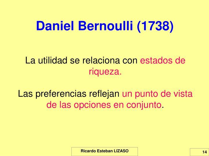 Daniel Bernoulli (1738)