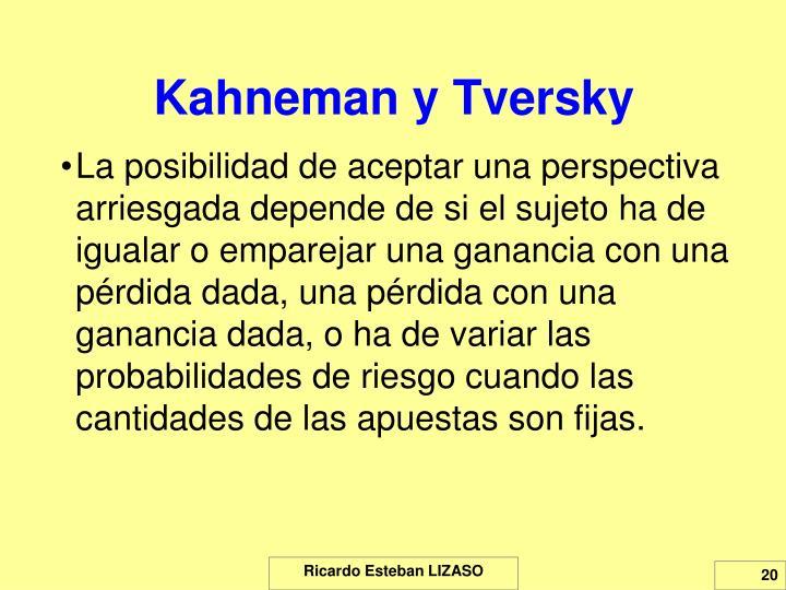Kahneman y Tversky