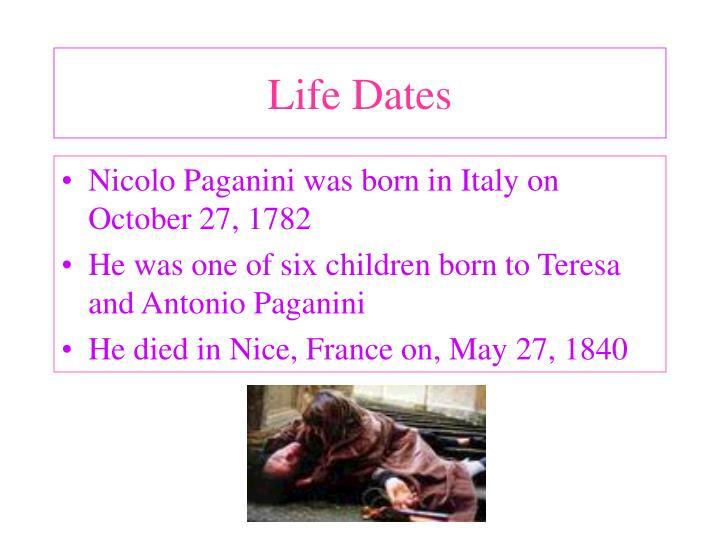 Life Dates