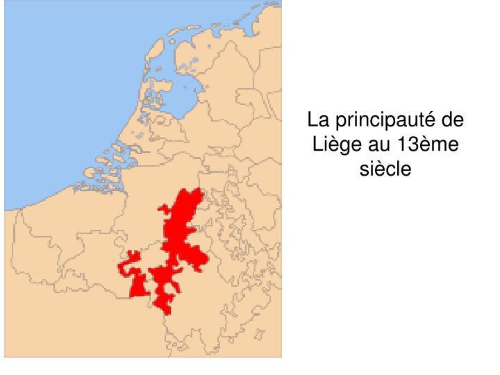 La principauté de Liège au 13ème siècle