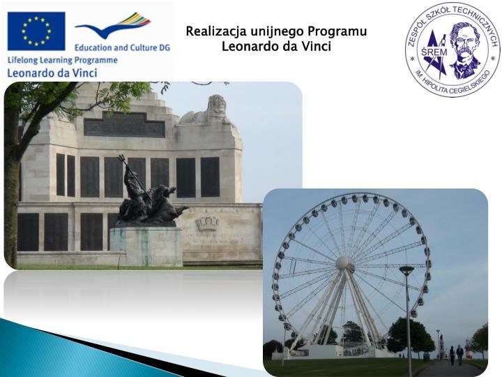 Realizacja unijnego Programu Leonardo da Vinci