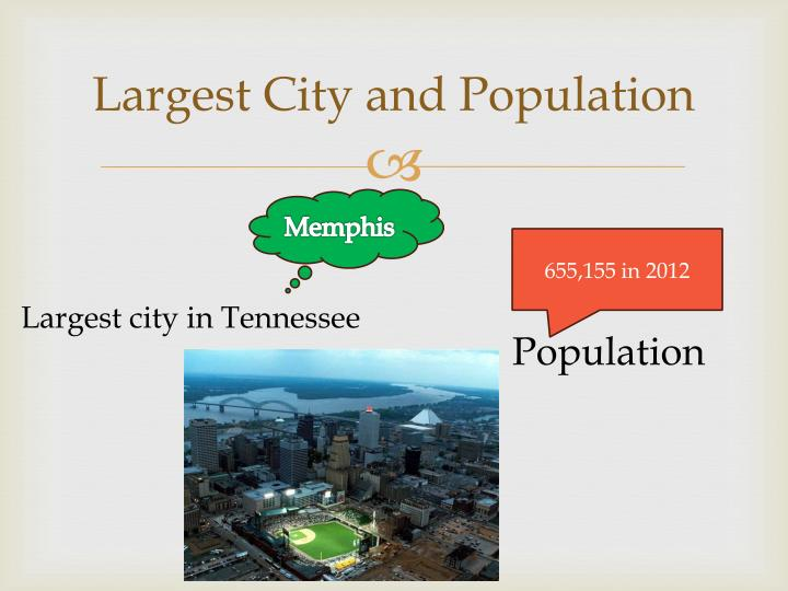 Largest City and Population