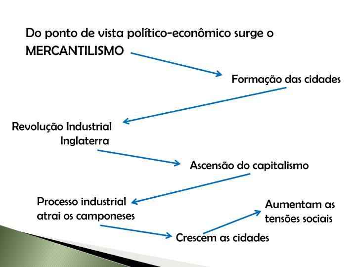 Do ponto de vista político-econômico surge o