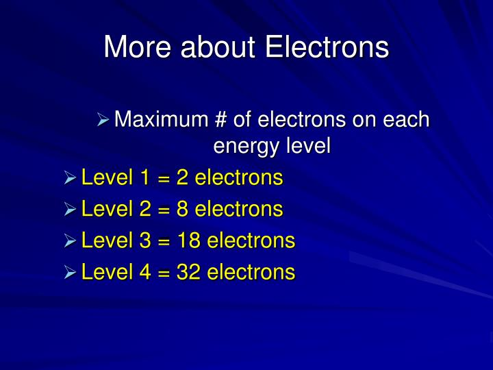More about Electrons