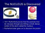 the nucleus is discovered